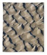 Ripple Pattern On Mudflat At Low Tide Fleece Blanket