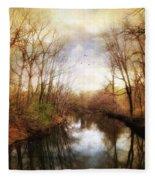 River Reflections Fleece Blanket