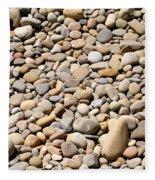 River Rocks Pebbles Fleece Blanket