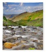 River San Juan  Fleece Blanket