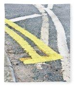Road Markings Fleece Blanket
