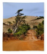 Road On Hierro Fleece Blanket