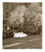 Steam Pumper Rochester Show Case Co. Fire Circa 1890s Fleece Blanket