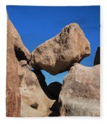 Rock Formation - Joshua Tree National Park Fleece Blanket
