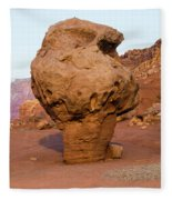 Rock Formations In A Desert, Vermilion Fleece Blanket