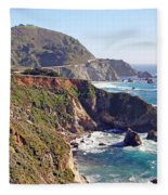 Rocky Creek Bridge Fleece Blanket
