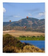 Rocky Mountain Balloon Festival Fleece Blanket