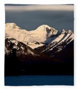 Rocky Mountains In Winter Fleece Blanket