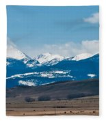 Rocky Mountains Road Fleece Blanket