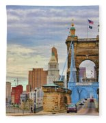 Roebling Bridge 9872 Fleece Blanket