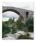 Roman Arch Bridge Pont St. Julien Fleece Blanket
