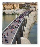 Roman Bridge In Cordoba Fleece Blanket