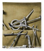 Roman Surgical Instruments, 1st Century Fleece Blanket