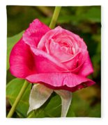 Rose Flower Fleece Blanket