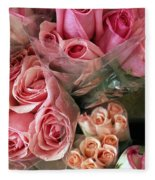 Roses For Sale Fleece Blanket