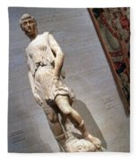 Rossellino's The David Of The Casa Martelli Fleece Blanket