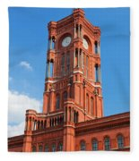 Rotes Rathaus The Town Hall Of Berlin Germany Fleece Blanket