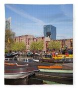 Rotterdam Cityscape In Netherlands Fleece Blanket