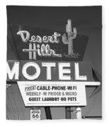 Route 66 - Desert Hills Motel Fleece Blanket