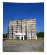 Route 66 Drive-in Movie Fleece Blanket