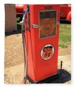Route 66 Gas Pump Fleece Blanket