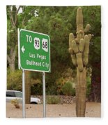 Route 66 - Kingman Arizona Fleece Blanket