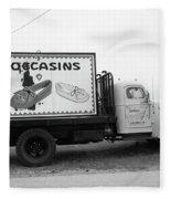 Route 66 - Oklahoma Trading Post Truck Fleece Blanket