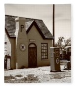 Route 66 - Phillips 66 Gas Station Fleece Blanket