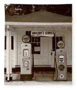 Route 66 - Soulsby Station Pumps Fleece Blanket