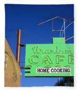 Route 66 - Uranium Cafe Fleece Blanket
