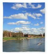 Rowing On The Thames At Hampton Court Fleece Blanket
