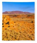 Ruins Of 900 Year Old Hopi Village Fleece Blanket