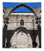 Ruins Of Carmo Convent In Lisbon Fleece Blanket