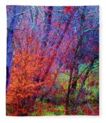 Run Forest Run Fleece Blanket