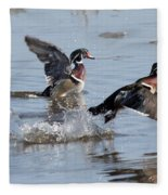 Running On The Water Fleece Blanket