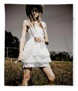 Rural Darkness Fleece Blanket