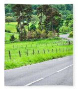 Rural Road Fleece Blanket