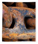 Rusty Steel Chain Detail Fleece Blanket