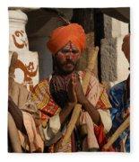 Sadus Holy Men Of India Fleece Blanket