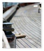 Sail Boat Rope Fleece Blanket