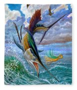 Sailfish And Lure Fleece Blanket