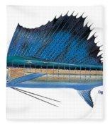 Sailfish Fleece Blanket