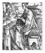 Saint Barbara (c200 Fleece Blanket