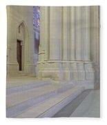 Saint John The Divine Cathedral Columns Fleece Blanket