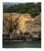 Salt Point Cliffs Fleece Blanket