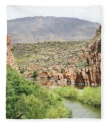 Salt River Above Roosevelt Lake Fleece Blanket