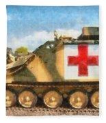 Samaritan Ambulance Fleece Blanket