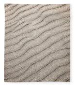 Sand Ripples Abstract Fleece Blanket
