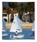 Santa Barbara Harbor Yacht Race Fleece Blanket