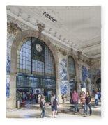 Sao Bento Railway Station Porto Portugal Fleece Blanket